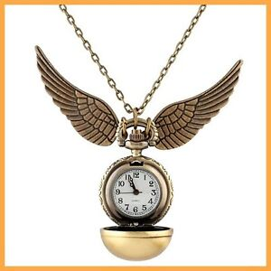 Harry-Potter-Snitch-Watch-Necklace-Steampunk-Quidditch-Pocket-Clock-Pendant