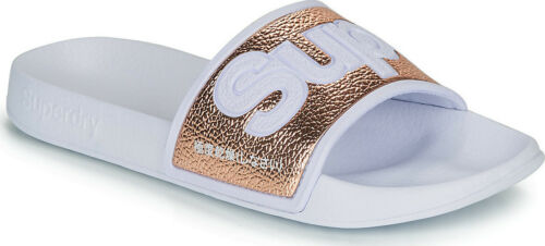 Superdry Designer Womens Sliders Ladies Pool Summer Flat Smart Slip On Sandles
