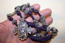 Heavy ST. MICHAEL CHAPLET Paracord Rosary: DC 265