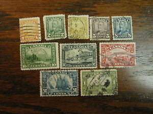 CANADA-SCOTT-149-59-Complete-Set-of-Ten-Stamps-USED-Light-Hinged