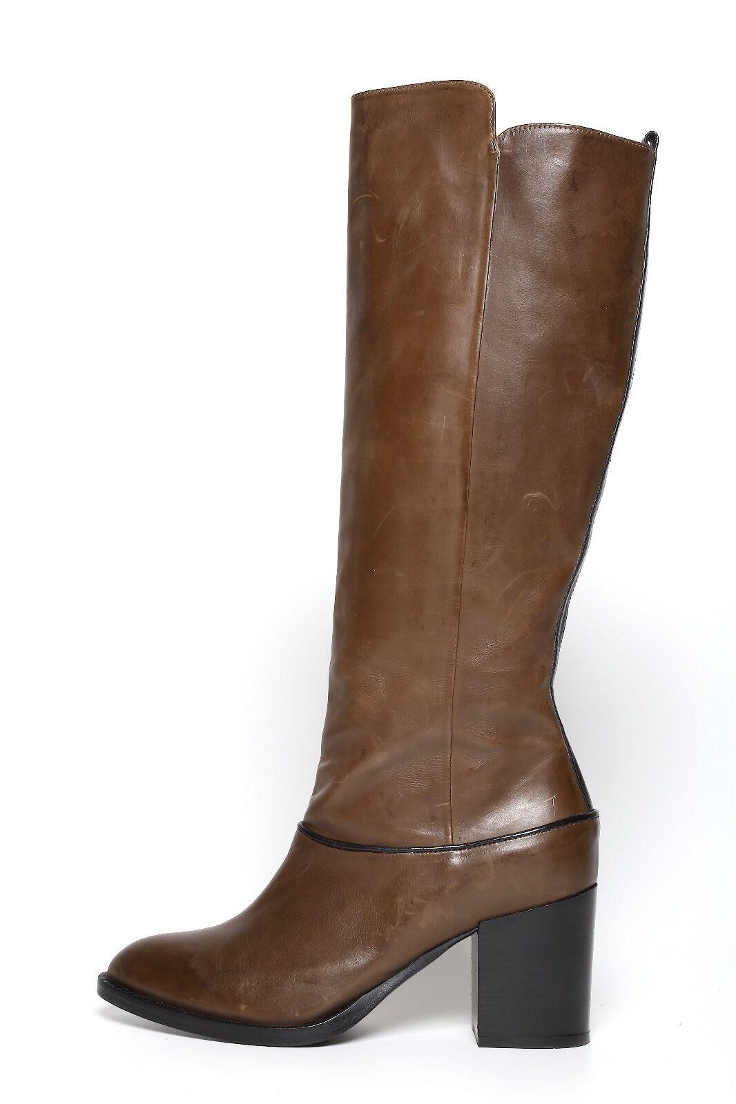 Alberto Fermani Women's Brown Side Zipper Boots 6710 Sz 40 EUR
