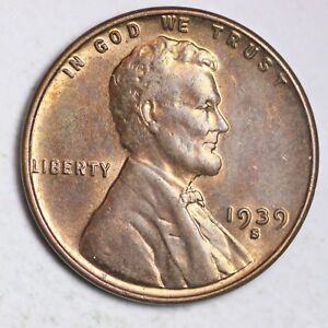 Roll Of 1939-S Lincoln Wheats Circulated