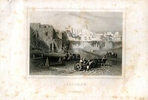 Jerusalem-Engraving-By-Rouargue-Published-IN-Paris-IN-1860