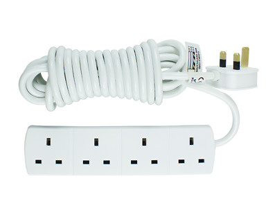 1M 13A 4 SOCKET EXTENSION LEAD Cable Assemblies Mains Power Cords