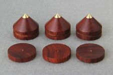 4Set Spikes + Pads Rosewood Wooden Copper speaker CD Isolation stands