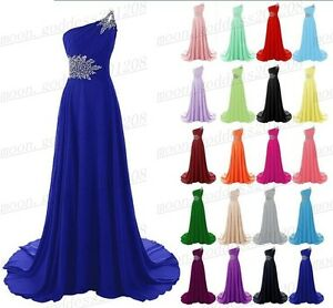 a18eb49d422ab Long Chiffon Lace Evening Formal Party Ball Gown Prom Bridesmaid ...