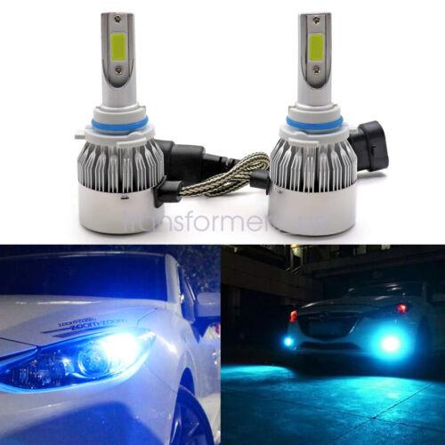 9012 HIR2 LED Headlight Bulb Kit High Low Beam Factory 55W 8000LM 8000K Ice Blue
