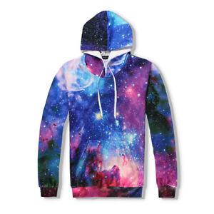 Astronomy Galaxy Graphic 3D Print Men Women Fashion Pullover Hoodie S M L XL XXL
