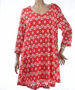 Tunique-Robe-Femme-Grande-Taille-46-48-dentelle-Rouge-Alicante-2w-paris-ZAZA2CAT