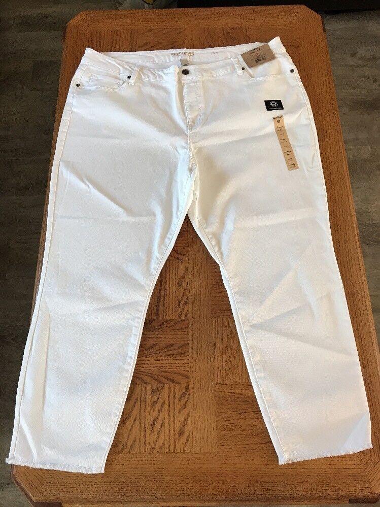 Ruff Hewn Womens Skinny Ankle Jeans Size 24W 0006