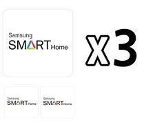 Samsung Door Locks RFID Cards SHS-AKT300 Smart Tag Key Sticker 3-Set White NEW