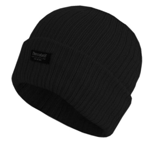 Mens 3M Thermal Insulated Fully Fleece Lined Hats Beanie Winter Thermal hat