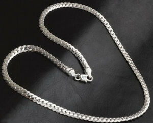 925-Sterling-Silver-Necklace-Womens-Mens-Opulent-Large-5mm-Snake-Curb-Chain-D543