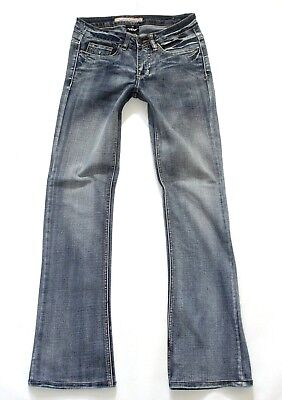 Women's Vintage Colori Del Mondo The Cerniera Stretch Blu Denim Jeans W28 L33-mostra Il Titolo Originale
