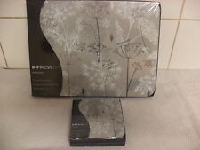 Set of 6 Place Mats and Matching Coasters IMPRESS Dill Flower Grey BRAND NEW