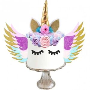 Image Is Loading Unicorn Cake Topper With Wings Birthday Supplies
