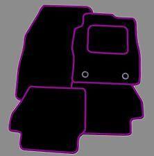 PEUGEOT 107 2005 ONWARDS TAILORED CAR FLOOR MATS BLACK CARPET WITH PURPLE TRIM