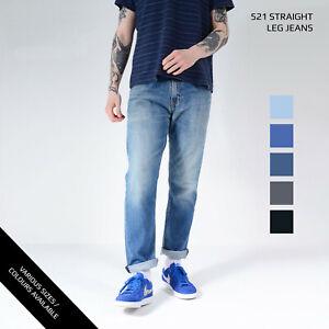 LEVIS-521-STRAIGHT-LEG-JEANS-DENIM-GRADE-A-W28-W30-W32-W34-W36-W38