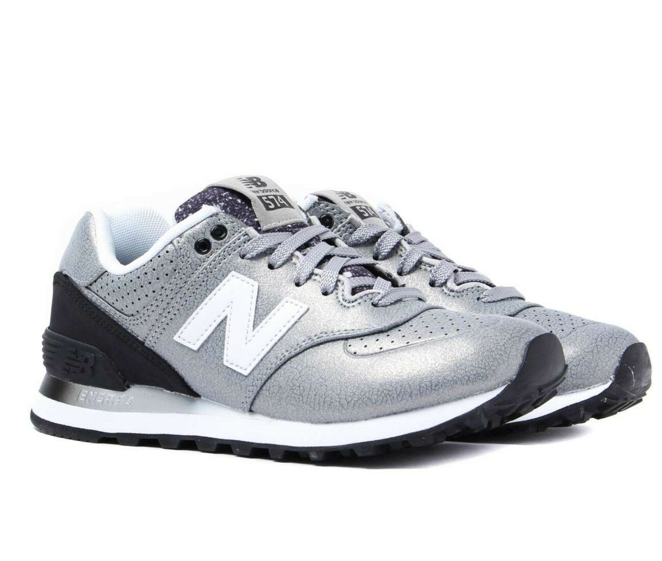 New Balance Women's 574 Low Top Trainers - Silver Leather size uk 4.5 eur 37 #