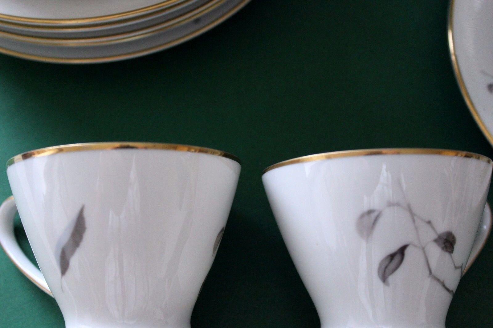 Rosanthal Kaffeeservice Form 2000 für 6 Personen, Dekor Dekor Dekor mit Goldrand | Verschiedene  30d847