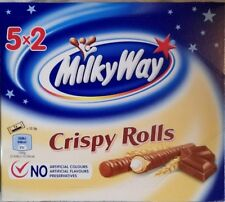PACK OF 5 MILKYWAY CRISPY ROLLS- BRITISH CHOCOLATE - WILL SHIP WORLDWIDE