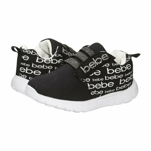 bebe Girls Toddler//Little Kid Athletic Sneaker Shoes For Girls Light Weight...