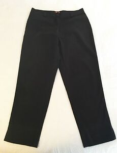 ESPRIT-Black-High-Waisted-Stretch-Casual-Dress-Ankle-Pants-Womens-Sz-11-12