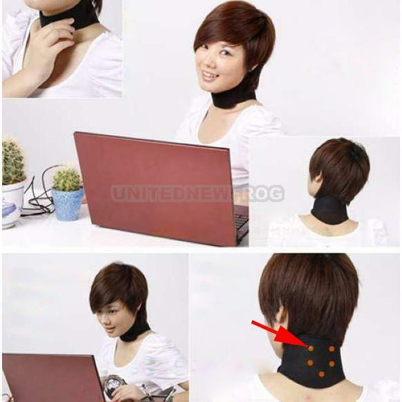 UN3F Magnetic Therapy Neck  Spontaneous Heating Headache Belt Neck Massager