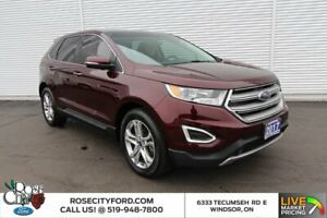 2017 Ford Edge Titanium / LEATHER / HEATED SEATS / MOONROOF / NAVIGATION /