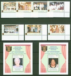 Mode 2019 Antigua & Barbuda 2002-musique + Théâtre-costumes - 3713-19 + Bloc 534 + 535-afficher Le Titre D'origine