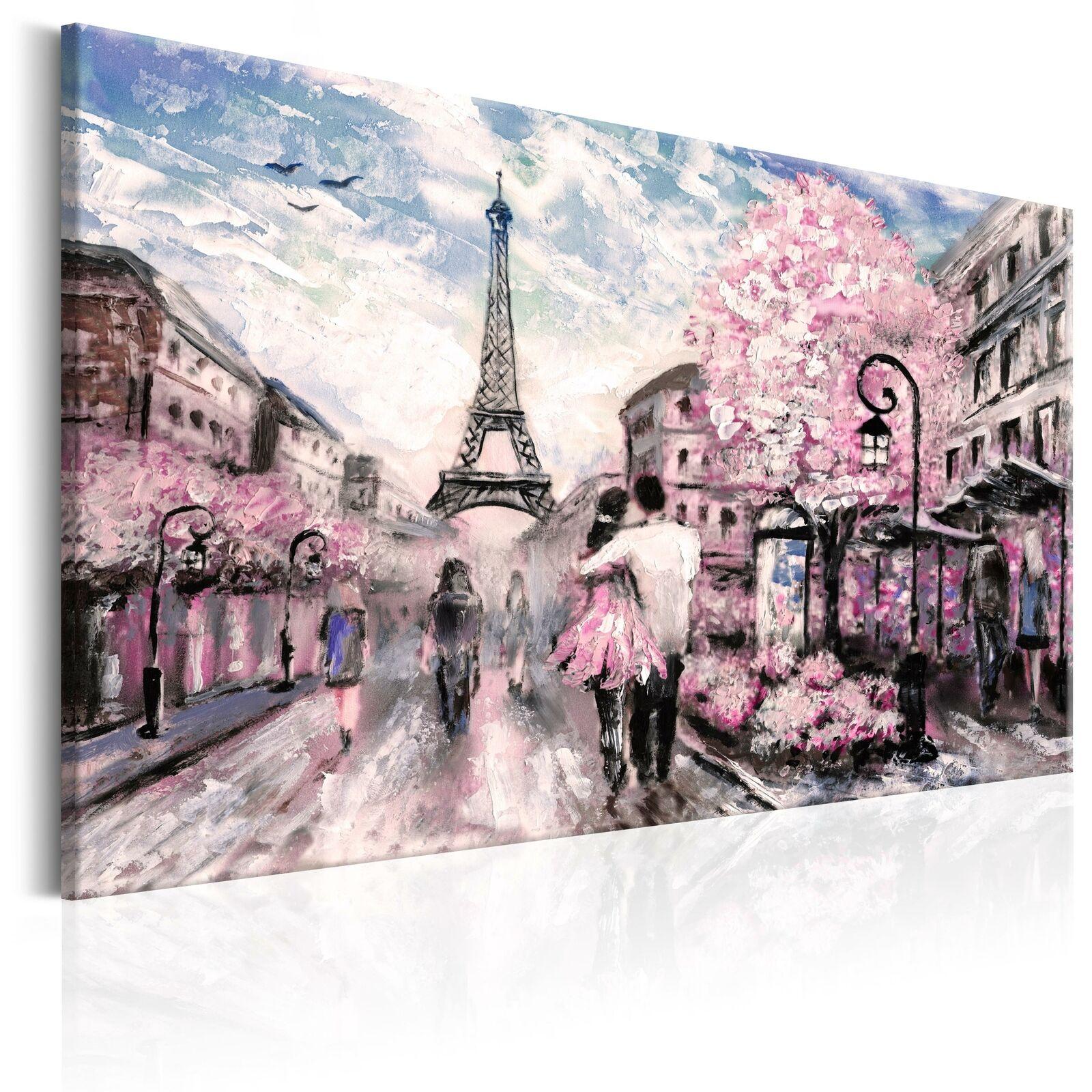 PARIS EIFFELTURM LONDON Wandbilder xxl Vlies Leinwand wie gemalt d-B-0147-b-a