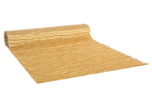 Glitzernder Tischläufer golden, Tischdeko, Tischband, satin-plisse, L. ca. 2,5m