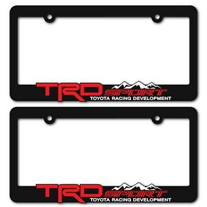 TRD-SPORT-License-Plate-Frames-Toyota-TRD-Tacoma-Tundra-4Runner-RAV4-Highlander