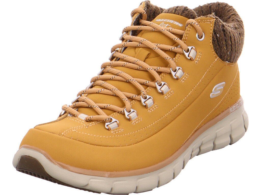 Skechers señora botas de invierno amarillo