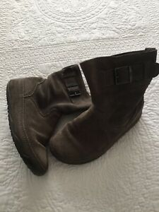 Grey Suede Leather Boots | eBay