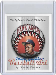 Hank-Aaron-Original-Artist-Signed-Hand-Painted-One-of-a-Kind-Art-Ball-Card