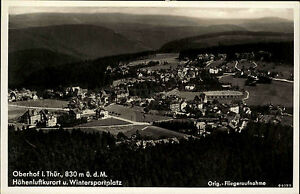 Oberhof-Thueringen-Thueringer-Wald-1940-Luftbild-Fliegeraufnahme-Panorama-Stadt