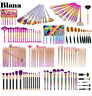 HighQuality Blush Foundation Eye Shadow Brow Liner Face Powder Fan Brush Set/Kit