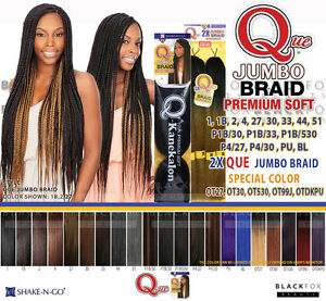 Image Is Loading Que Jumbo Braid Premium Soft 100 Kanekalon Synthetic