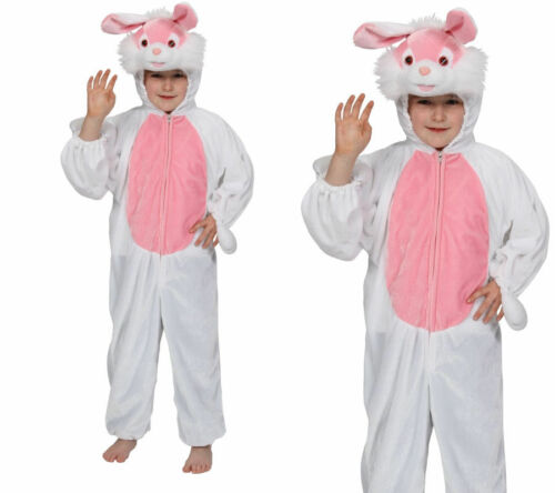 Child Kids Easter Bunny Rabbit Fancy Dress Animal Costume New Ages 3-13