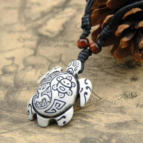 1Pcs Tribal Style White//Brown Cool Man Hawaii Surfing turtles Pendant Necklace