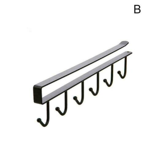 26cm Metall Unter Regal Aufhänger Rack Halter 6 Haken Schrank H9Z1