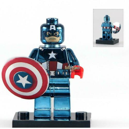 CAPTAIN AMERICA CHROME Fits Lego MOC MARVEL Minifigure Iron man Thor Black widow