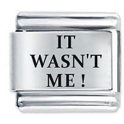 IT WASN'T ME ! - Daisy Charms by JSC Fits Classic Size Italian Charm Bracelet