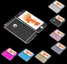 3D FULL COVER iPhone 6 6S Alumium Schutzglas Alu Panzerglas Folie (Vorn+ Hinten)
