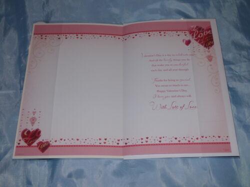 VALENTINE CARD HUSBAND OR WIFE KEEPSAKE LOVELY WORDS VERSES LARGE  2 DESIGN
