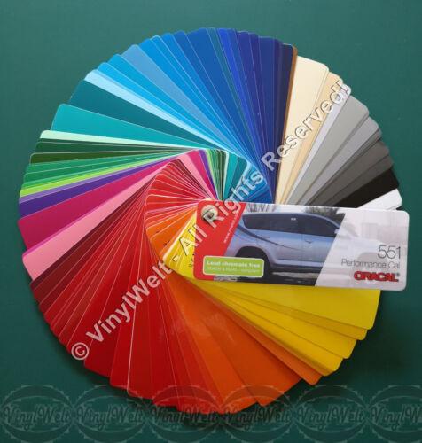 Farbfächer Oracal 551 High Performance Cal