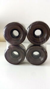 LONGBOARD-CRUISER-COMPLETE-SET-4-WHEELS-CLEAR-BLACK-70mm-80a-SKATEBOARD