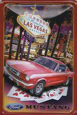 Ford Mustang Las Vegas Blechschild Schild Blech Metall Metal Tin Sign 20 x 30 cm
