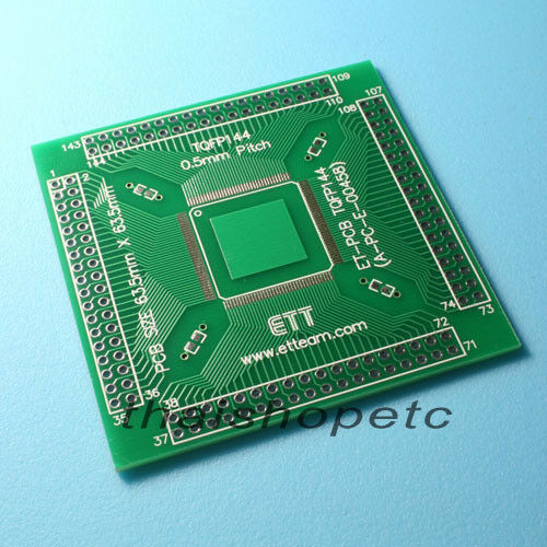 1 x TQFP144 TQFP-144 Adapter PCB SMD Convert DIP